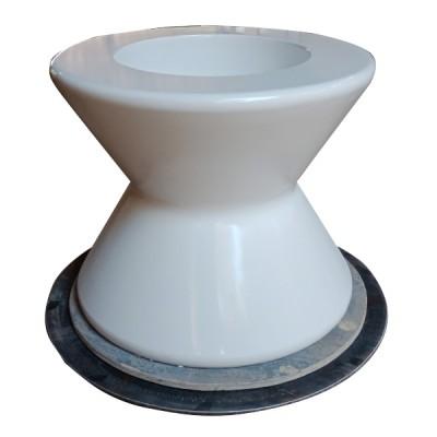 bàn composite màu trắng hình đồng hồ cát độc đáo