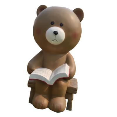 Mô hình composite gấu nâu đọc sách