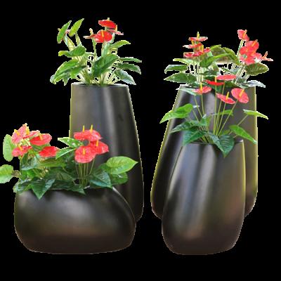Combo chậu hoa trang trí sân vườn frp set 4 chiếc