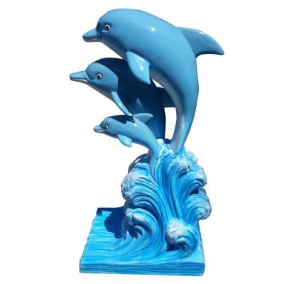 Mô hình tượng cá heo bằng sợ thủy tinh composite