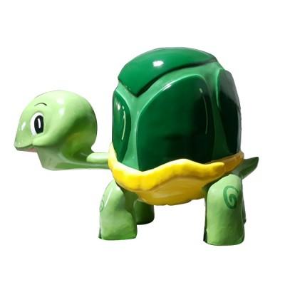 Mô hình composite hình con rùa màu xanh