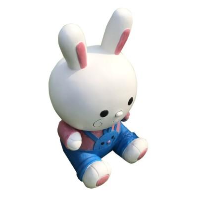 Mô hình thỏ trắng composite cao cấp