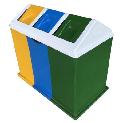 Thùng rác composite phân loại 3 ngăn