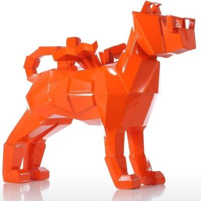 Mô hình chó màu cam bằng sợi thủy tinh composite