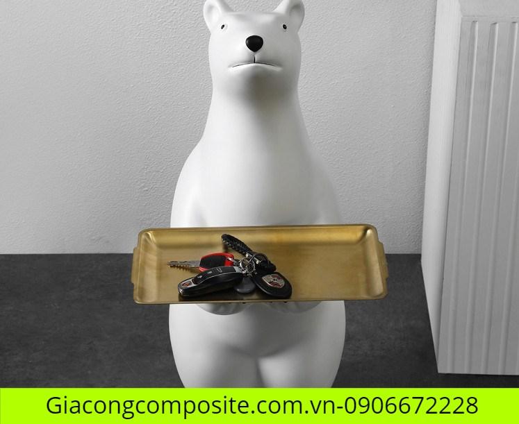 mô hình gấu trắng Composite đẹp