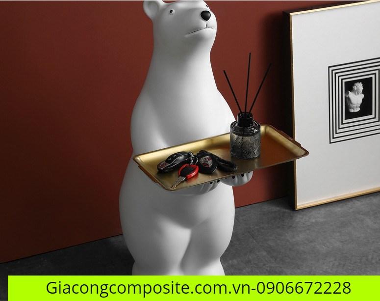 mô hình gấu trắng Composite