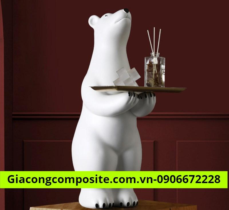 mô hình gấu trắng độc đáo